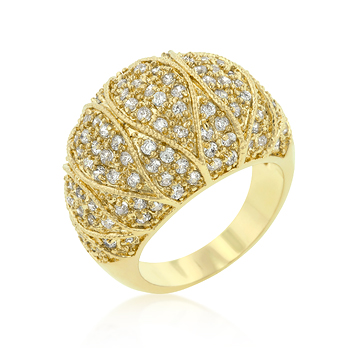 Goldeneye Clear CZ Cocktail Ring