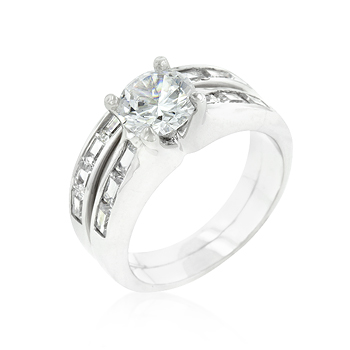 Wedding Silver Tone Stackable Ring Set