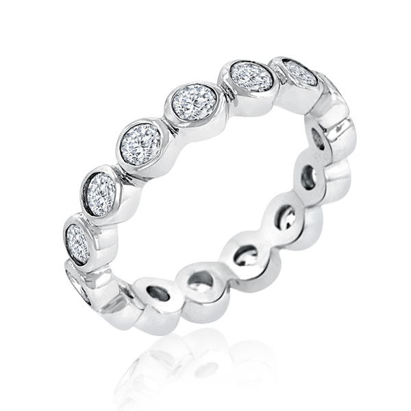 Unique Linked Bezel Eternity Wedding Ring by ENCORE DT