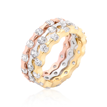 Tritone Stackable Wedding Rings - Jewelry Gifts