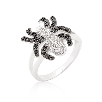 CZ Spider Fashion Ring - Unique Design Jewelry