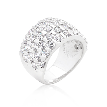 Cocktail Channel Set Princess Cut Ring