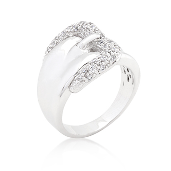 Wedding Simple CZ Belt Ring - Jewelry Gifts