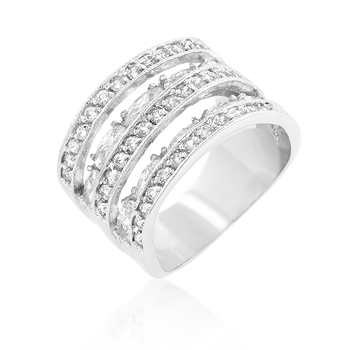 Wedding Cubic Zirconia Tiered Ring