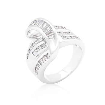 Wedding Channel Set Overlap Ring