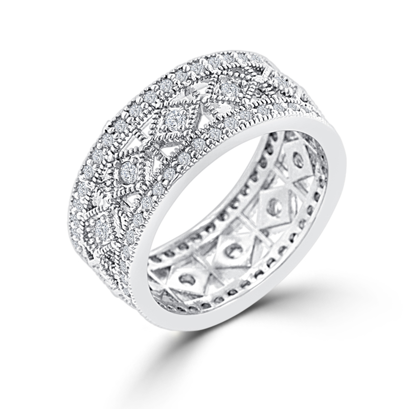 Eternity Simple Classic CZ Wedding Band