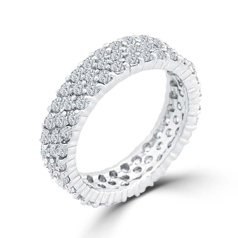 Exquisite Pave CZ Eternity Wedding Ring Under $100