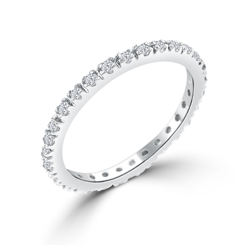 Italian Design Simple Eternity Wedding Band