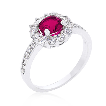Bella Birthstone Engagement Ring in Pink .88 CT