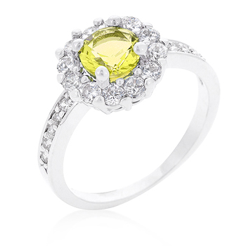 Bella Birthstone Engagement Ring in Yellow .88 CT