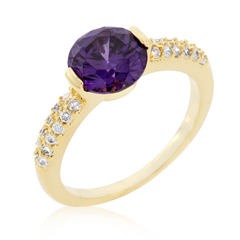 Purple Isabelle Engagement Ring 1.2 CT