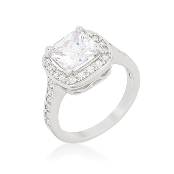 Halo Style Cushion Cut Engagement Ring 2.83 CT