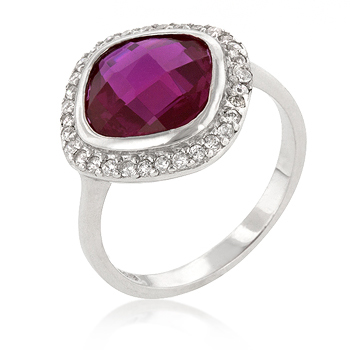 Cocktail Berry Silver Ring