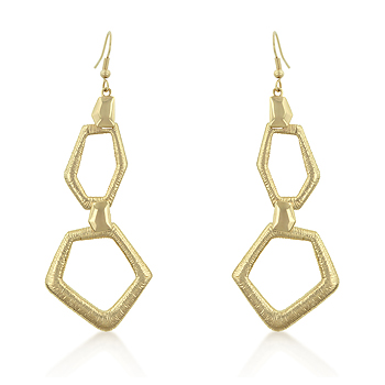 Angles Silhouette Gold Drop Earrings