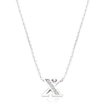 Classic Pave Initial X Pendant