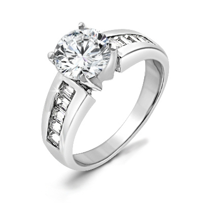 Antoinette Engagement .925 Sterling Silver Ring