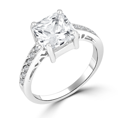 cubic zirconia princess cut engagement ring - Cheap Wedding Rings Under 100