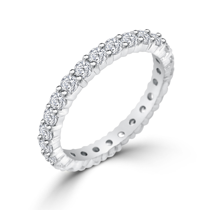 cubic zirconia wedding band - Cubic Zirconia Wedding Rings