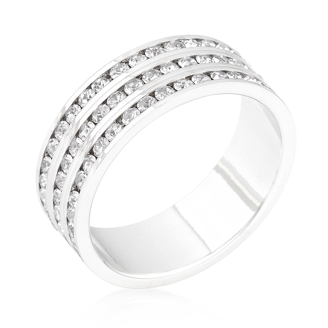 1.3 CT CZ Minelli Triple Row Exclusive Wedding Ring