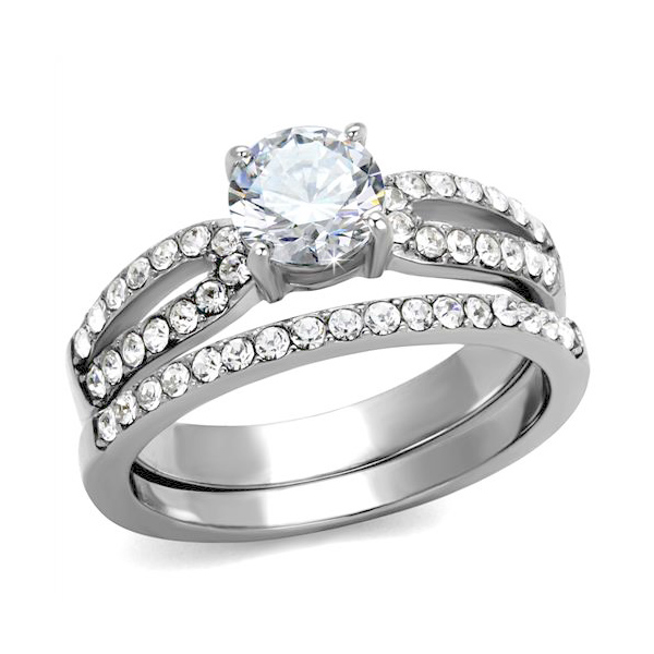 Queen Anne Classic Engagement Wedding Ring Set 3 Ct