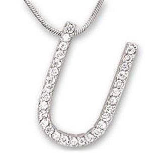 Silver Tone Fashion Necklace Clear CZ