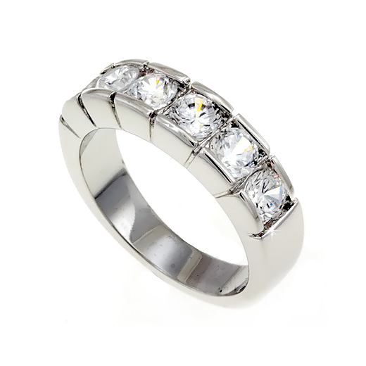 Petite Sterling Silver .925 Ring Clear CZ