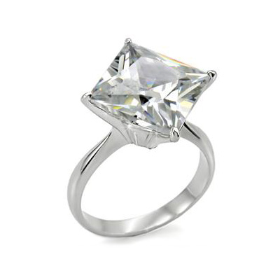 cz engagement ring with princess cut product details product line ring ...