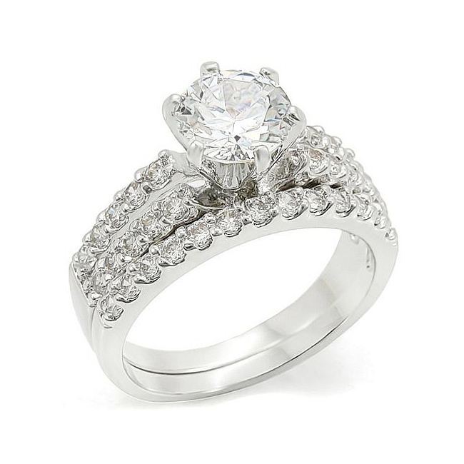 High Class Elizabeth Engagement Wedding Ring Set
