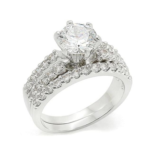 High Class Elizabeth Engagement Wedding Ring Set