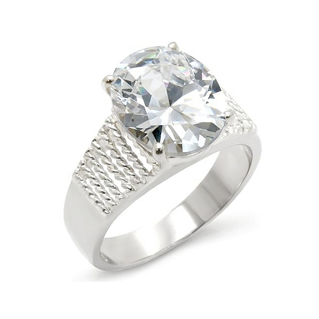 Sterling Silver .925 Ring Clear Cubic Zirconia