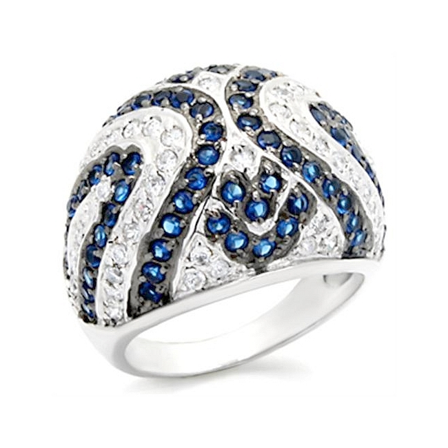 Petite Sterling Silver .925 Ring Montana Cubic Zirconia