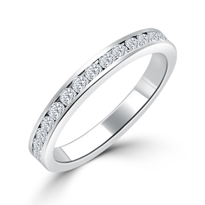 Sterling Silver .925 Eternity Channel Wedding Ring 3.5 CT