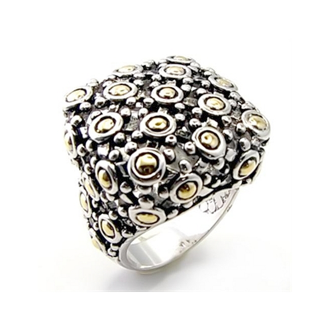Two Tone Fashion Ring