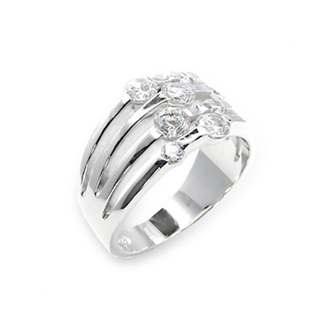 Sterling Silver .925 Ring Clear CZ