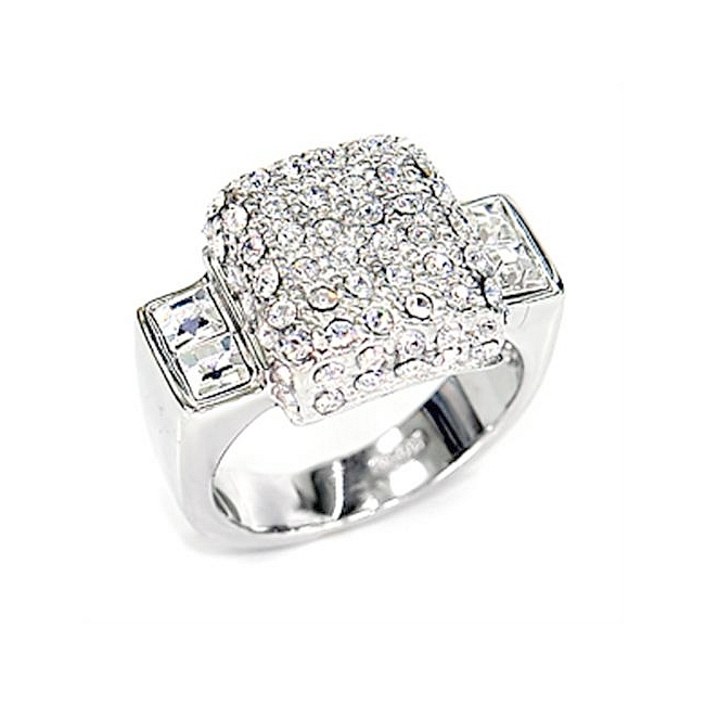 Sterling Silver .925 Ring Clear Crystal