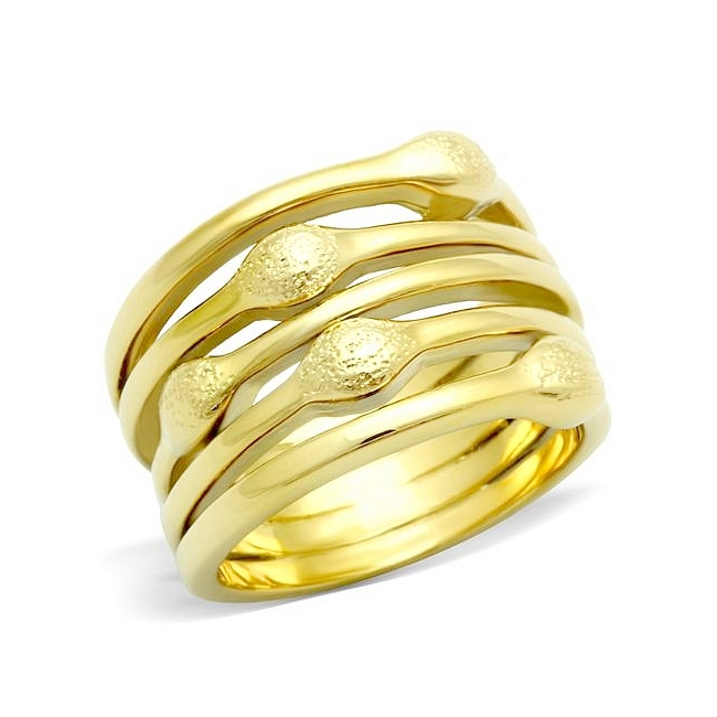 Classy 14K Gold Plated Link Band Fashion Ring