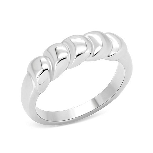 Silver Tone Modern Fashion Ring