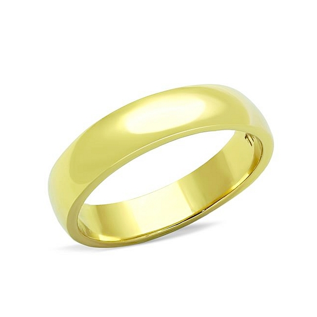 14K Gold Plated Plain Wedding Ring