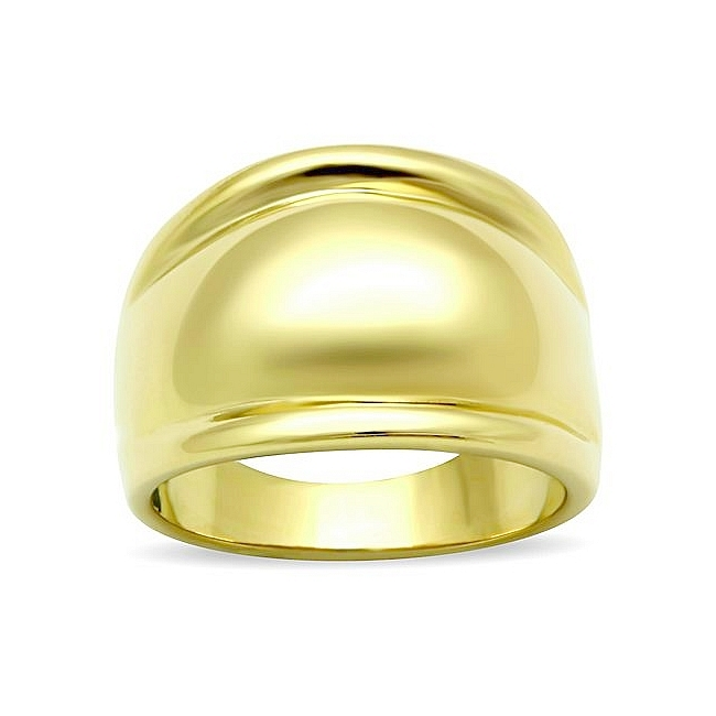Stylish 14K Gold Plated Plain Wedding Ring