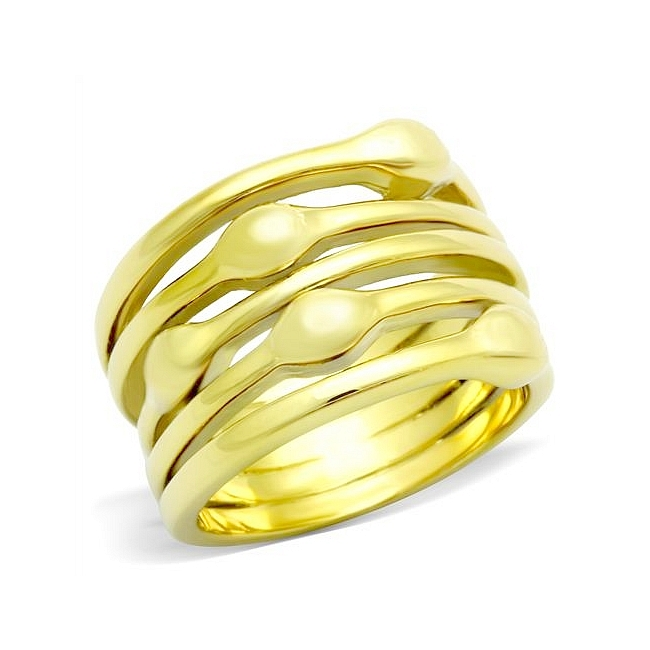 Stunning 14K Gold Plated Modern Fashion Ring
