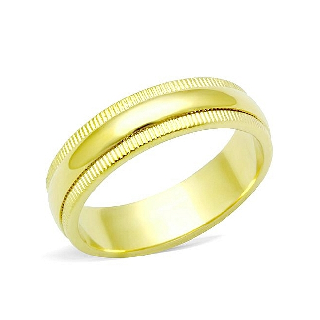 14K Gold Plated Vintage Plain Wedding Ring