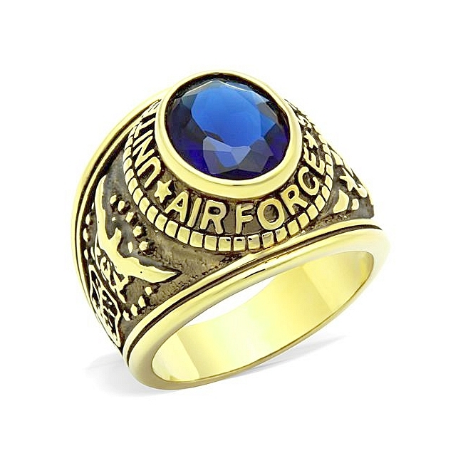14K Gold Plated Air Force / Military Mens Ring Montana