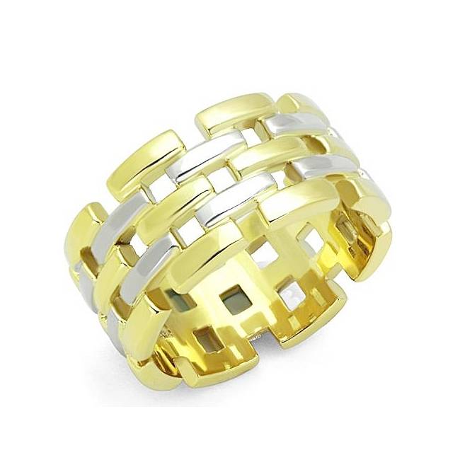 14K Two Tone (Gold & Silver) Band Fashion Ring