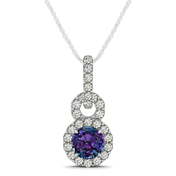 Alexandrite pendant necklaces from encore dt stunning infinity halo alexandrite necklace aloadofball Choice Image