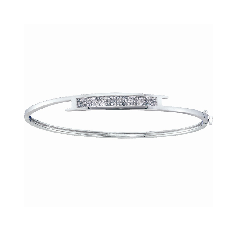 0.50 CT Diamond Bangle 14K White gold