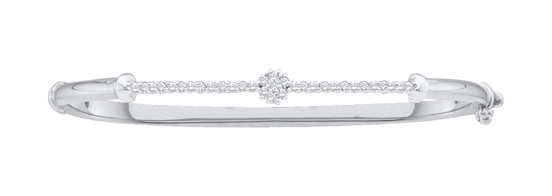 0.25 CT Diamond Bangle 14K White gold