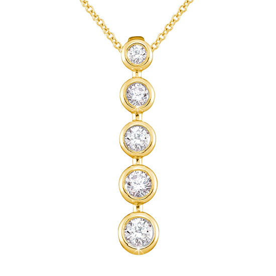 Journey 5-Circle 0.50 CT Diamond Pendant Necklace