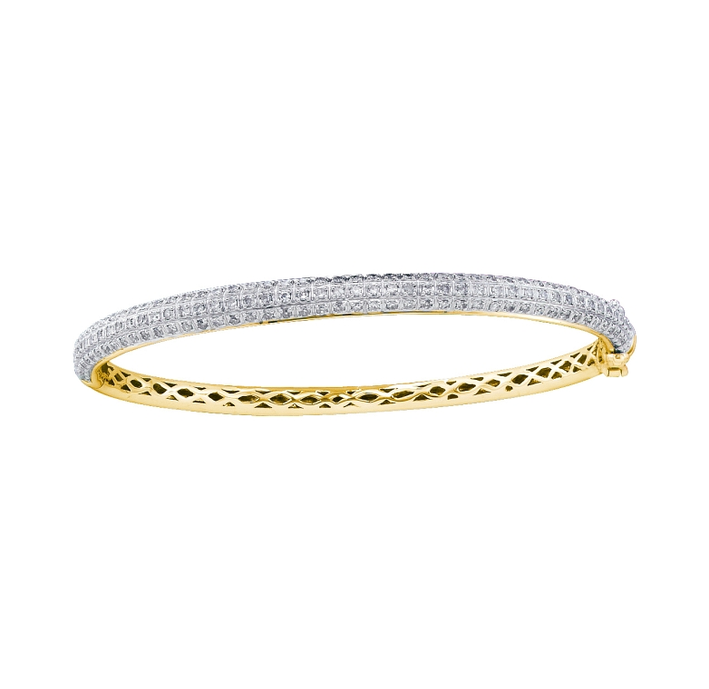 0.97 CT Diamond Bangle 14K Yellow gold