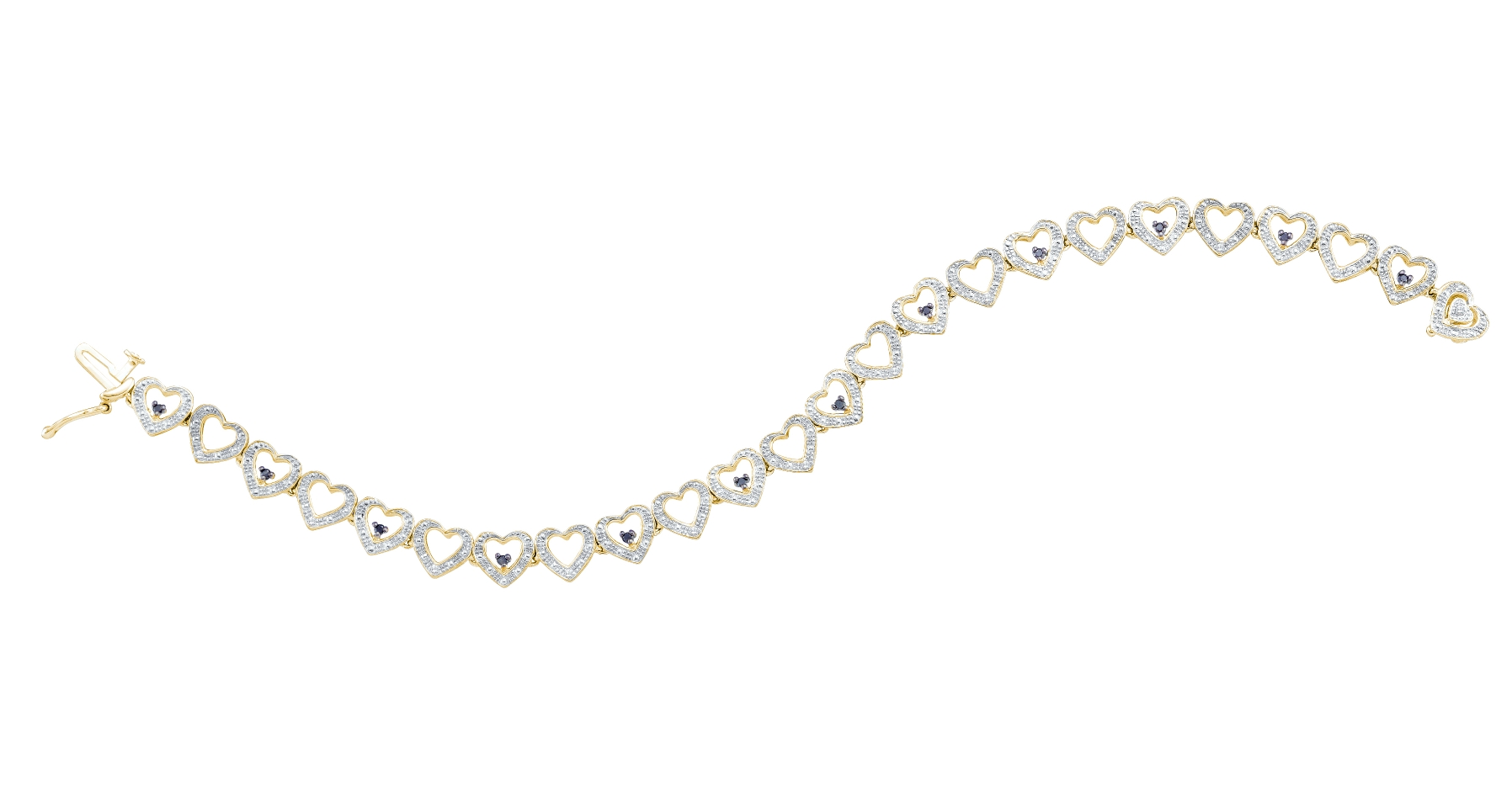 0.19 CT Diamond Bracelet 925 Sterling silver