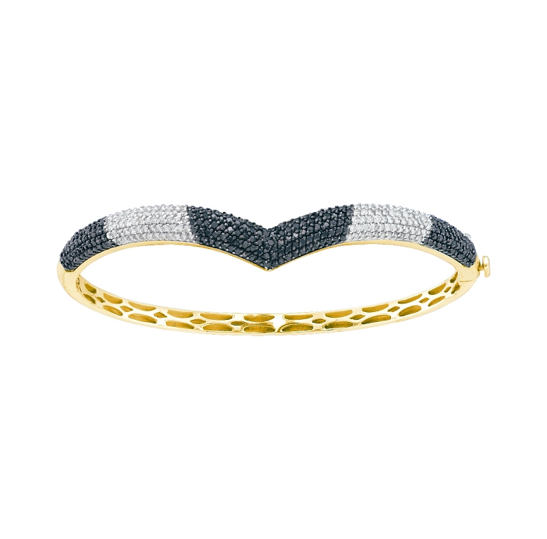1.72 CT Diamond Bangle 14K Yellow gold